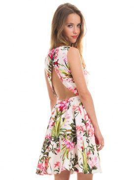 2a4e83ae94b Vestido de flores espalda abierta de Morgan de Toi   Night Out ...
