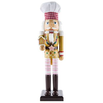 Nutcracker Chef with Gingerbread House