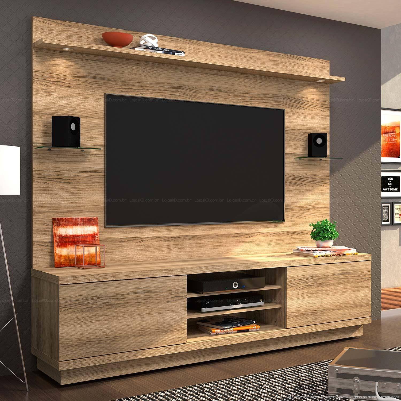 Master bedroom entertainment centers  Quer barato Rack com painel para tv até  polegadas por R