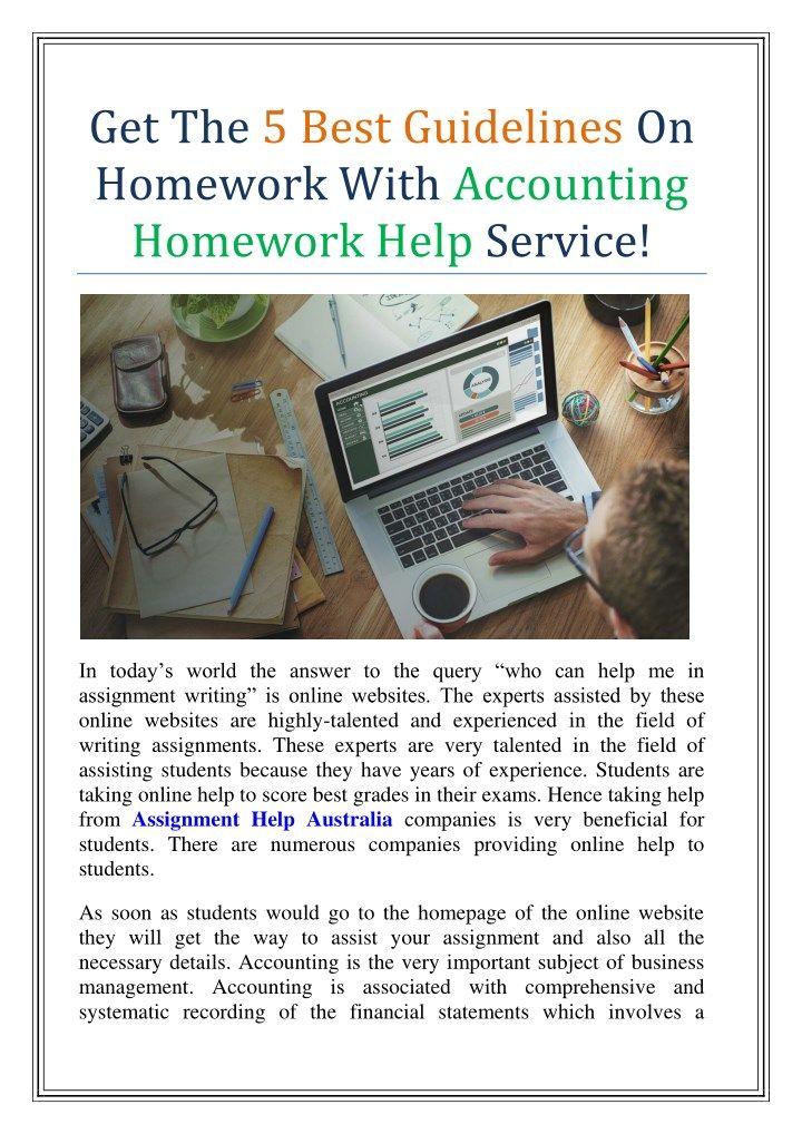 Good homework help sites
