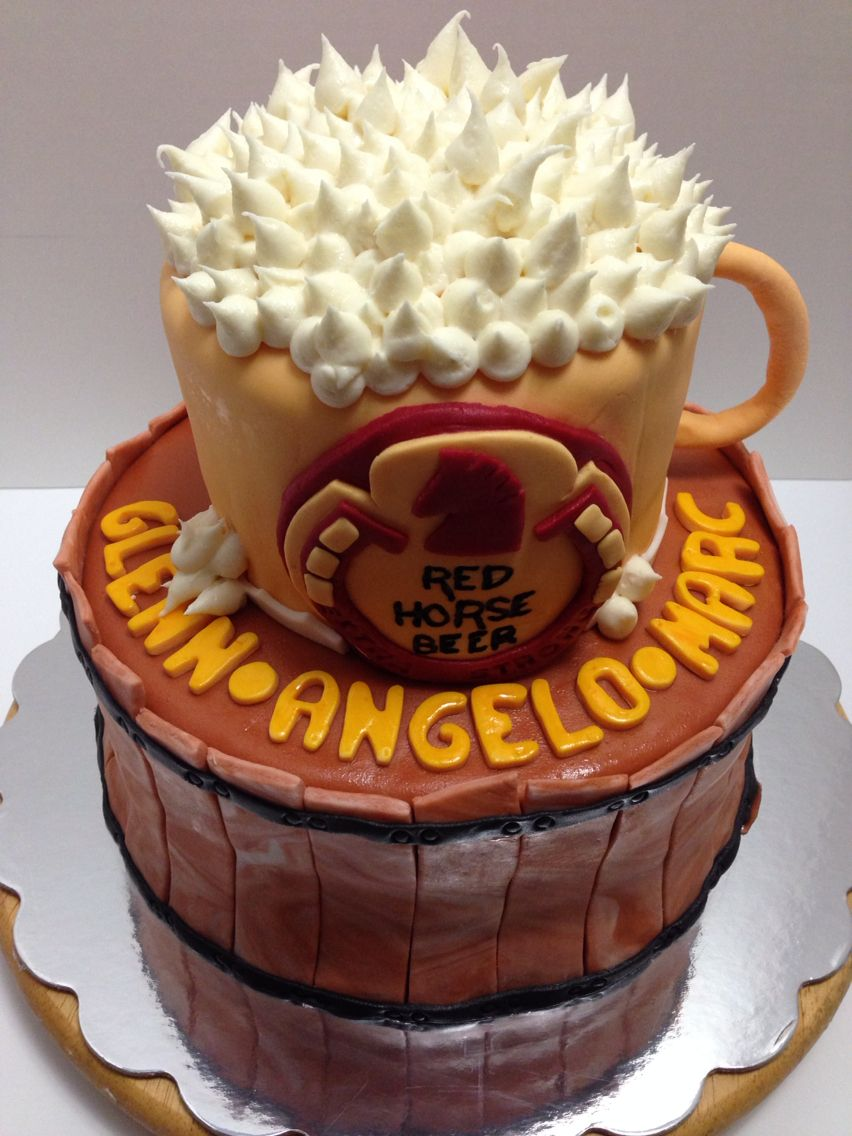Red Horse Beer Cake Cakes Cake Birthday Cake Desserts