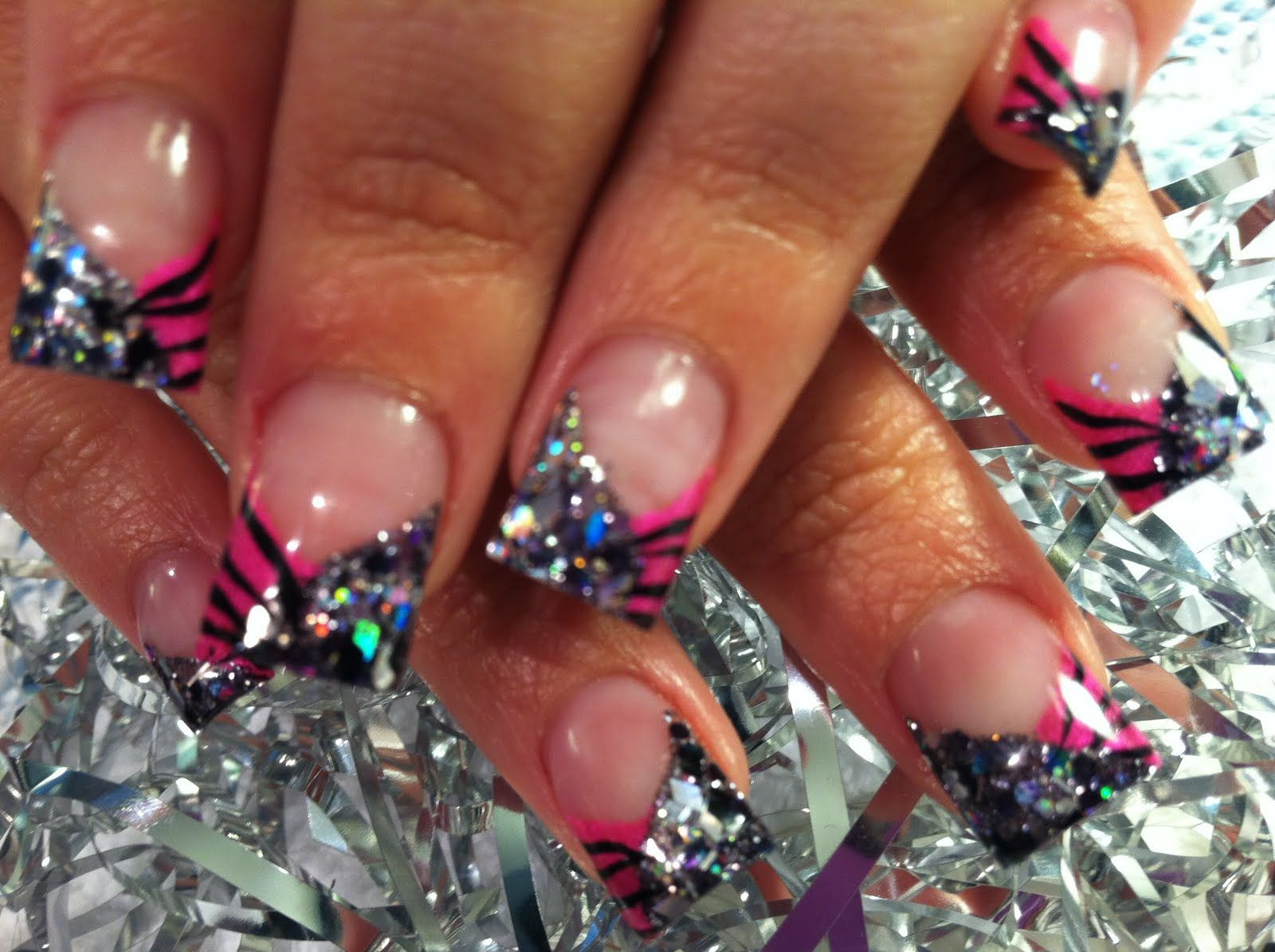 Pink zebra nails nails pinterest - Printed The Pink Zebra Nails Nail Bling Closet Places Zebras Love This Hairstyles