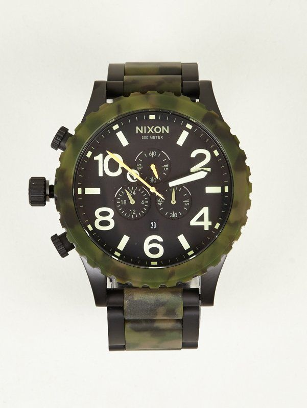 a09254443e0 Nixon Men s Camo 51-30 Chrono Watch
