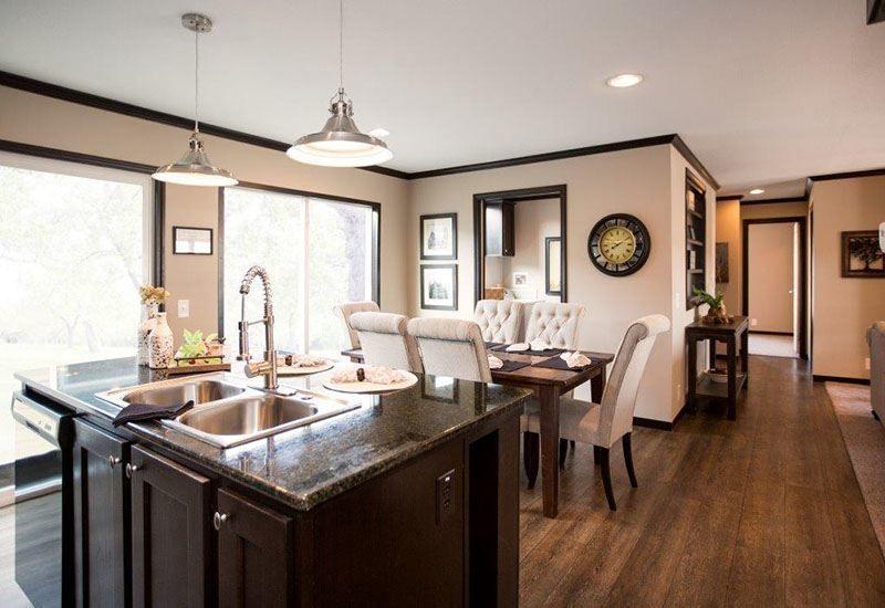 CMH Patriot PAR28563A 3 Bedroom Double Wide For Sale  Clayton Mobile HomesClayton. CMH Patriot PAR28563A 3 Bedroom Double Wide For Sale   Dining area