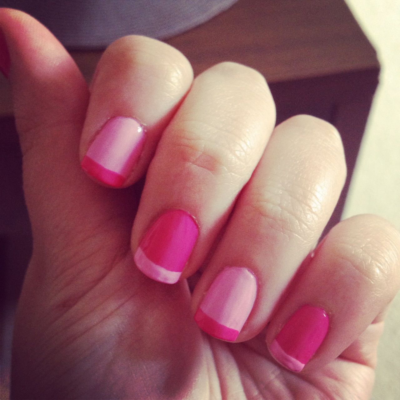 french manicure different colors photo