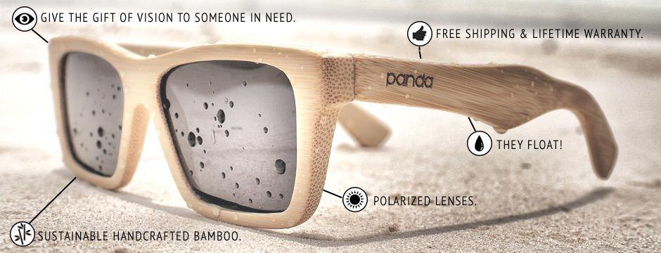 bdadc619cd Panda Sunglasses   Panda Sunglasses - Bamboo Wooden Sunglasses for Social  Cause