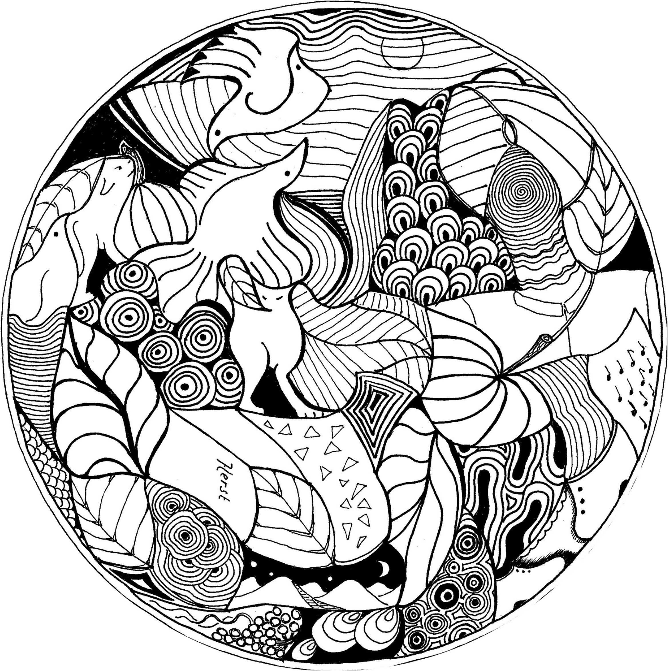 coloriage mandala tigre imprimer #Coloriage