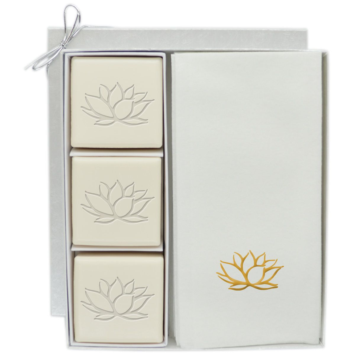 Lotus soap and hand towel gift set products pinterest hand