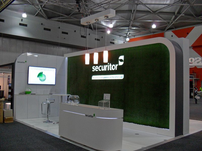 Simple Exhibition Stand Builders : Securitor simple fresh clean stand exhibit design exhibition