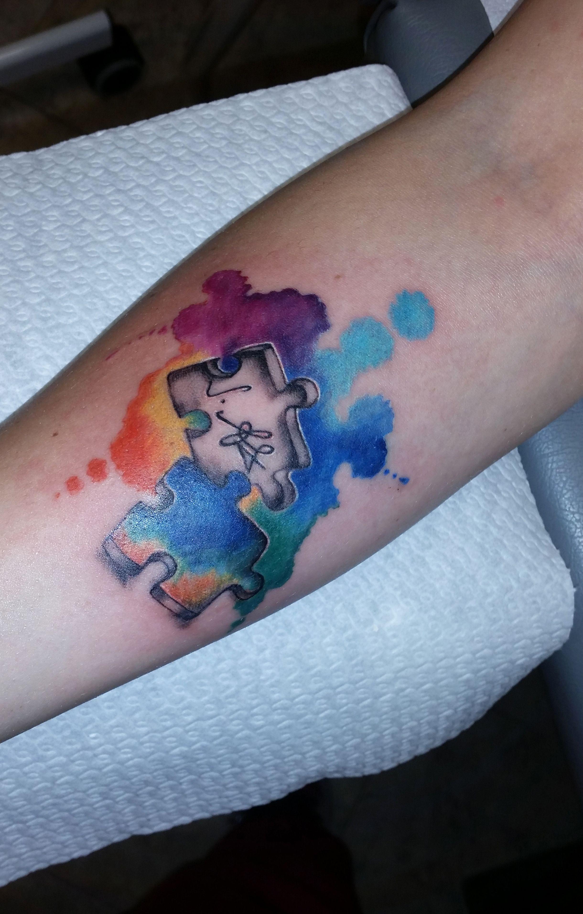 puzzle tattoo tatted pinterest ehe tattoos tattoo. Black Bedroom Furniture Sets. Home Design Ideas