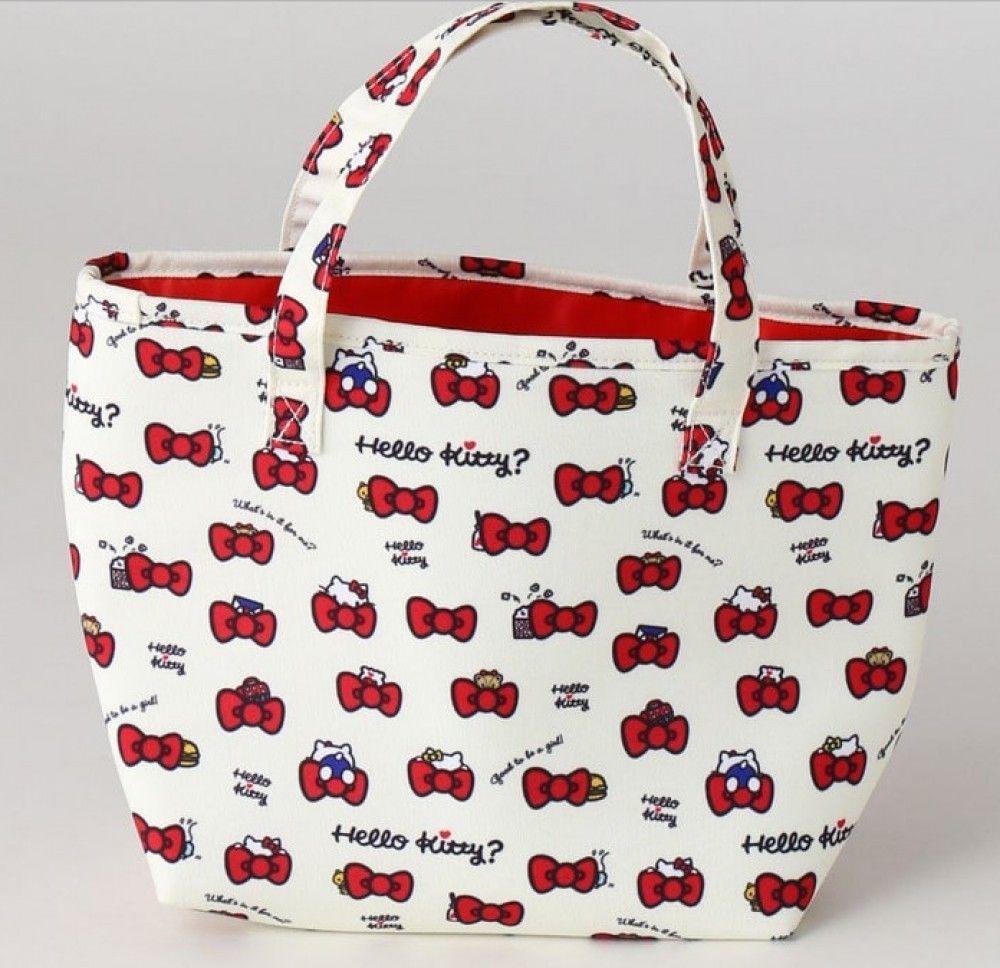 0a5b0928cec1 Hello Kitty Ribbon Tote Bag - sakuraya japan kawaii fashion  hellokitty   ribbon  totebag