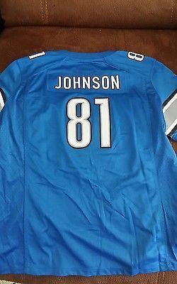 nfl vapor untouchable limited jersey nike detroit lions calvin johnson 81 football jersey nwt size x