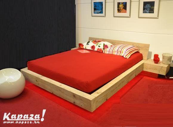 Zwevend bed gebruikt steigerhout ref country, Slaapkamers en bedden, Menen | Kapaza.be
