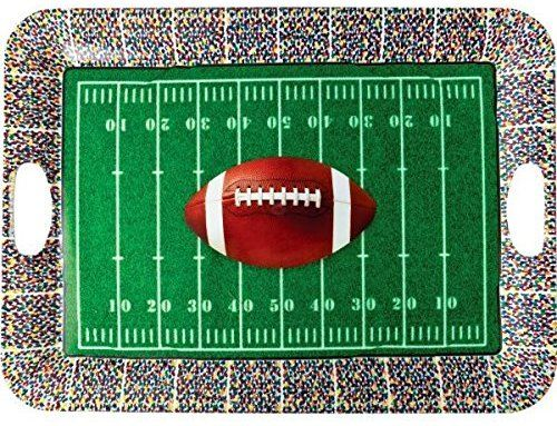 Decorative Plastic Serving Trays New Football Frenzy Birthday Party Large Plastic Serving Tray Serve Inspiration
