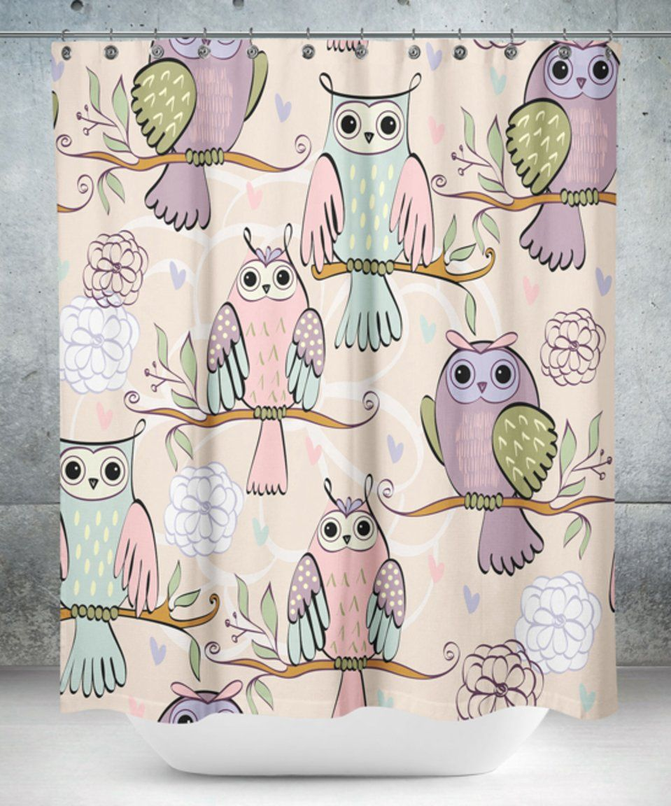 Take A Look At This Purple Pink Owl Shower Curtain Today Owl Shower Shower Curtain Pink Owl