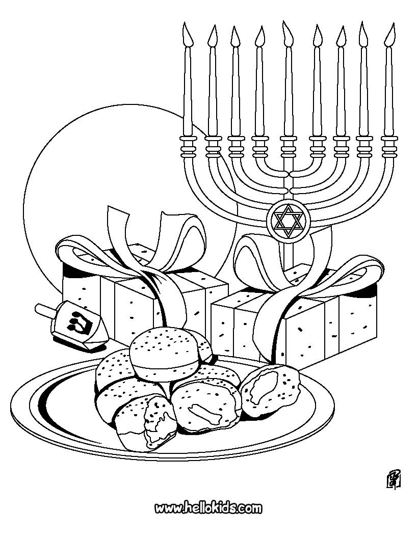 Chanukah Symbols Coloring Page Coloring Pages Hannukah Crafts