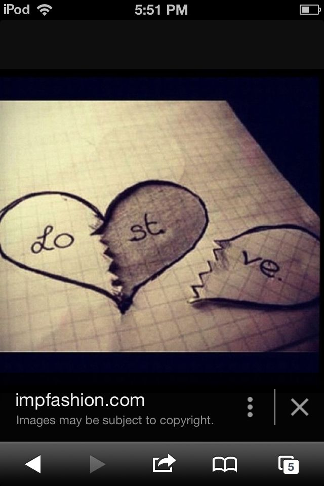 Cute tumblr love is lost drawing (With images) | Broken ... |Cute Love Broken Heart Drawing