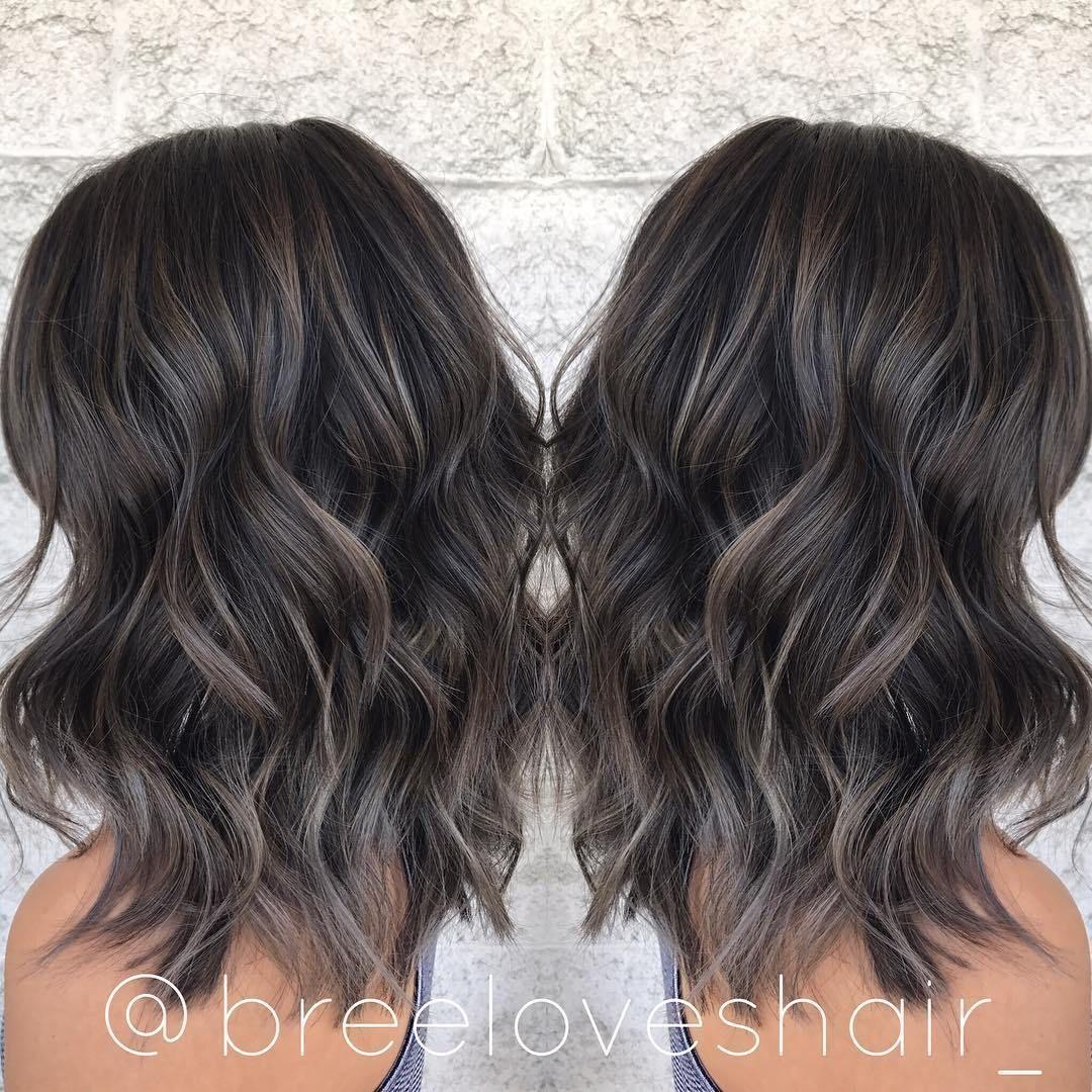 Choppy Wavy Shoulder Length Shag In 2020 Brown Hair Balayage Hair Styles Hair Highlights