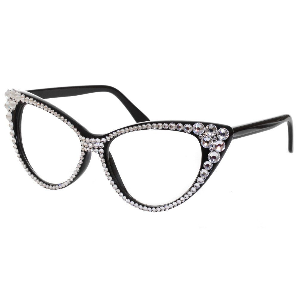 cat eye glasses image | Home › Accessories › Clear Crystal Cat Eye ...