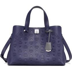 Photo of Women's handbag Essential Leather Lrg Navy Blue Mcmmcm