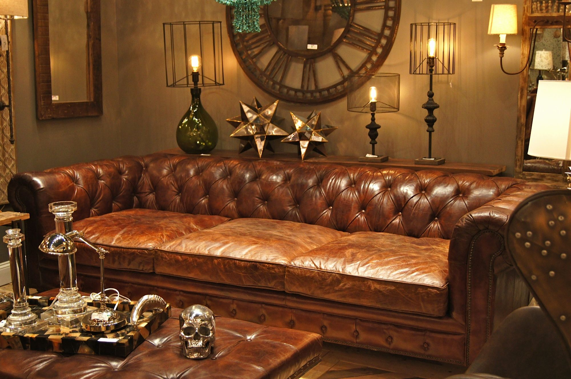 Beautiful Chesterfield Leather Sofa Photographs Chesterfield