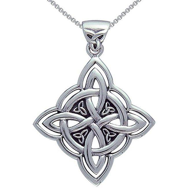 Carolina Glamour Collection Sterling Silver Celtic Spiritual Trinity Symbol Necklace