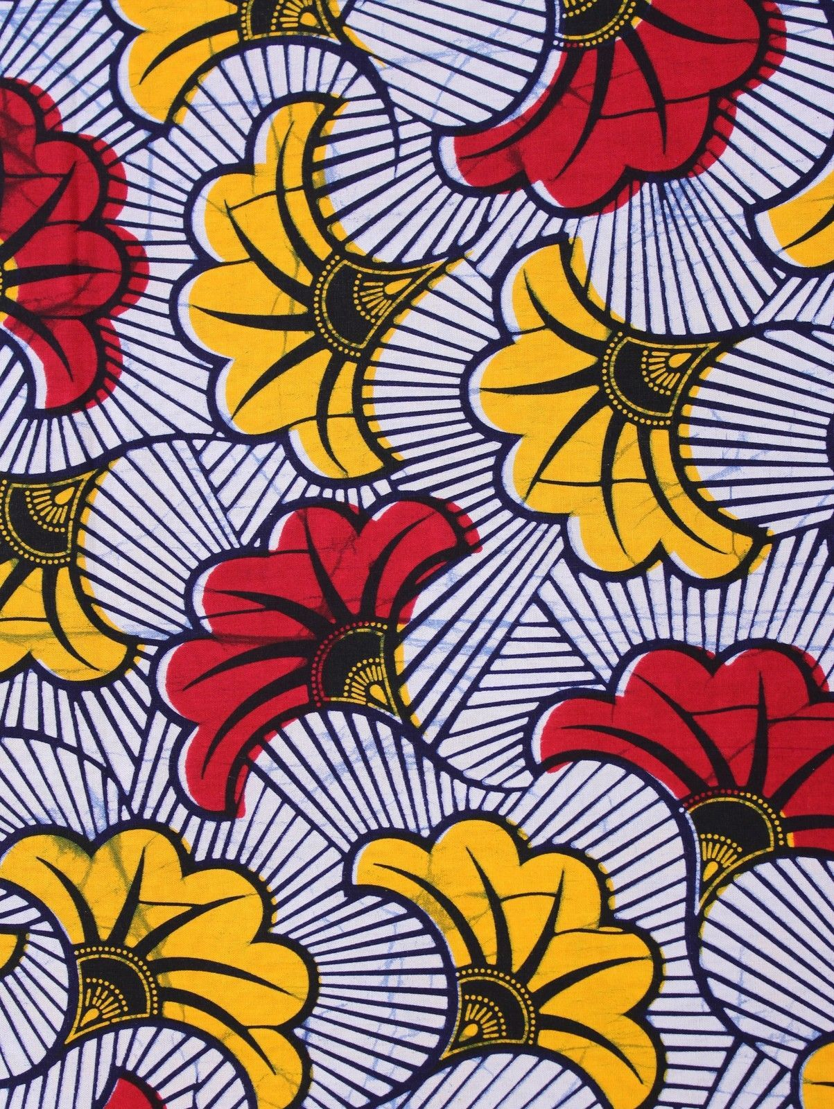 African Wax Print Cotton Fabric 4 Crafts /& Dresses Bright /& Bold Colors Per Yard