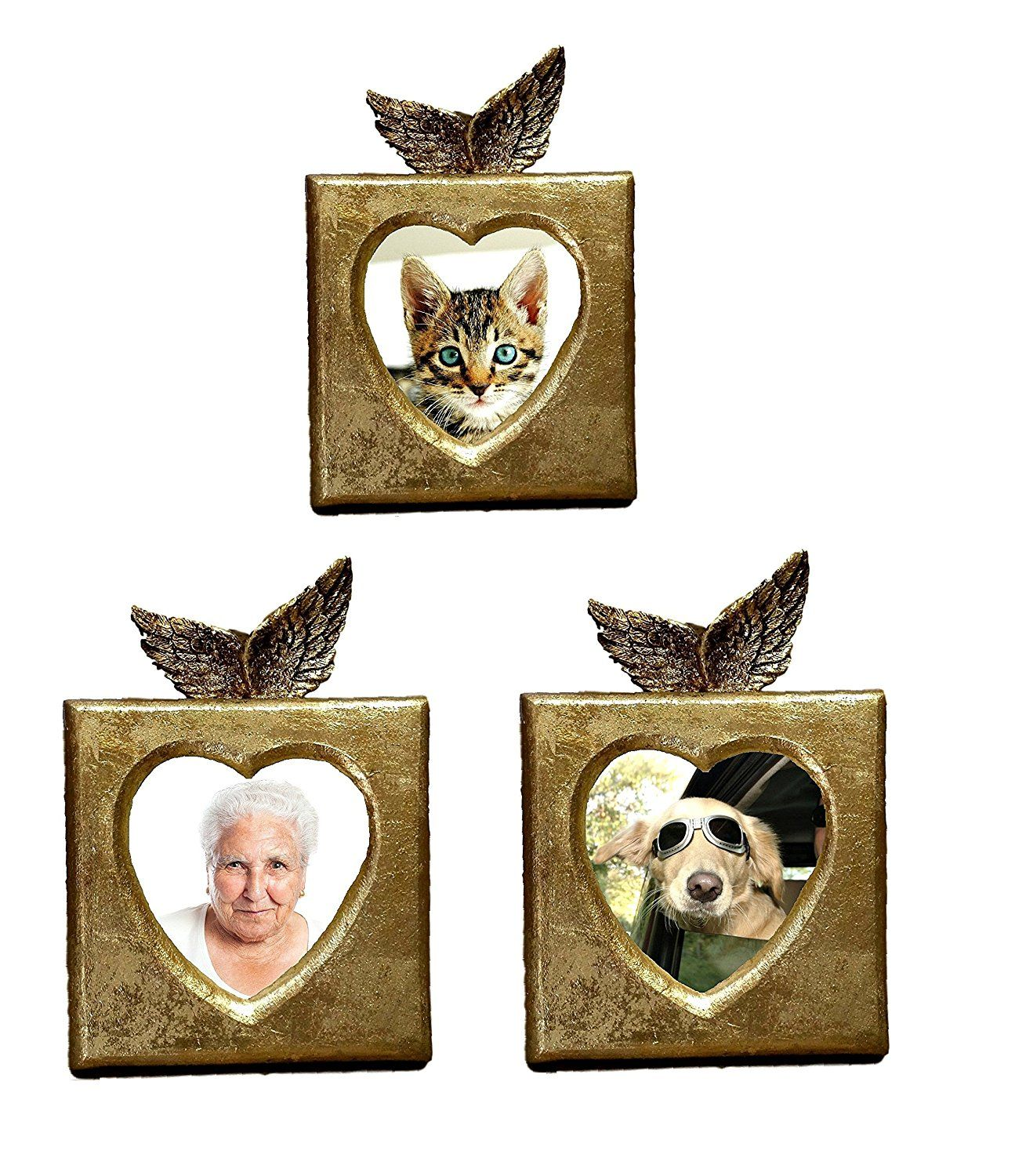 Best small unique gold heart shaped table top unique memorial pet best small unique gold heart shaped table top unique memorial pet and family picture frames with angel wings check this awesome product by going to the jeuxipadfo Image collections