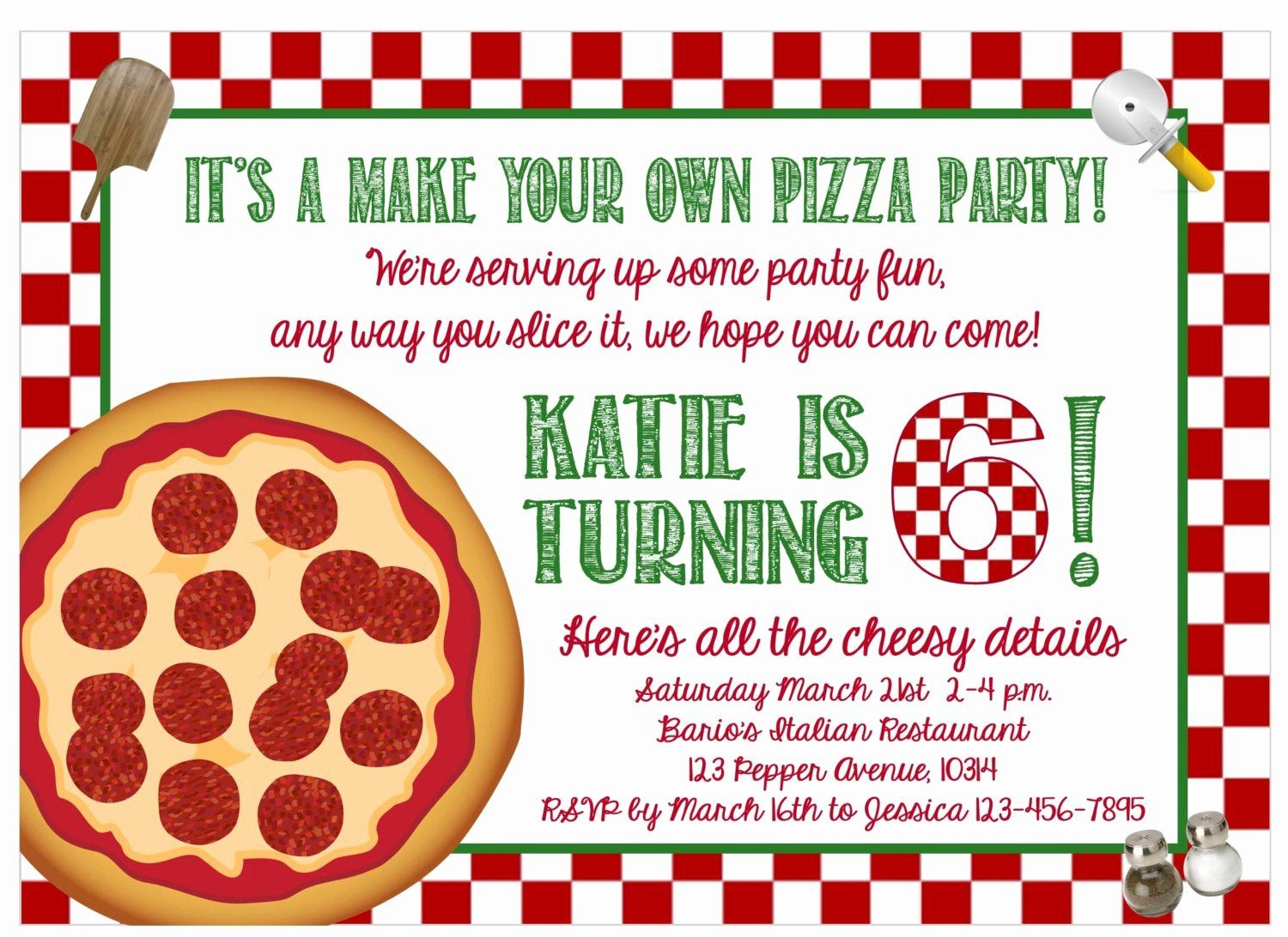 Pizza Party Invites Template Inspirational Print At Home Make Your Own Pizza Party In 2020 Pizza Party Invitations Party Invite Template Pizza Party