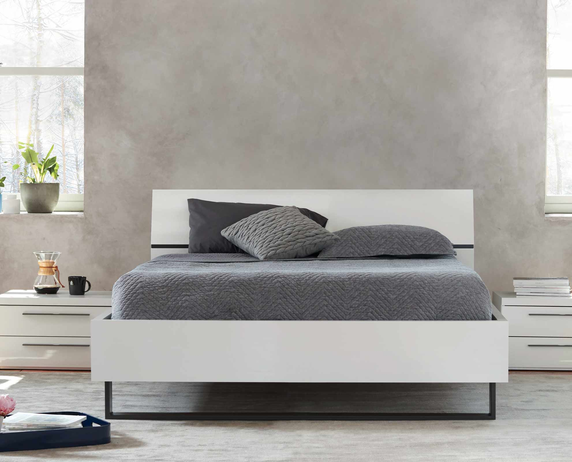 Scandinavian Designs Rest Easy With The Light And Airy Feel Of Tanaan Bed Crafted From Durable Manufactured Wood It Features A Bright White Finish