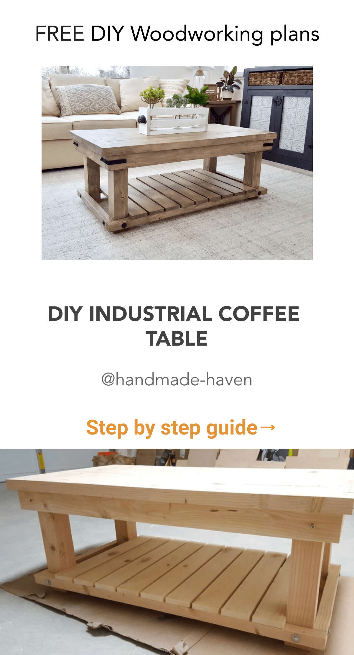 Diy Industrial Coffee Table In 2020 Coffee Table Diy Furniture Plans Industrial Coffee Table