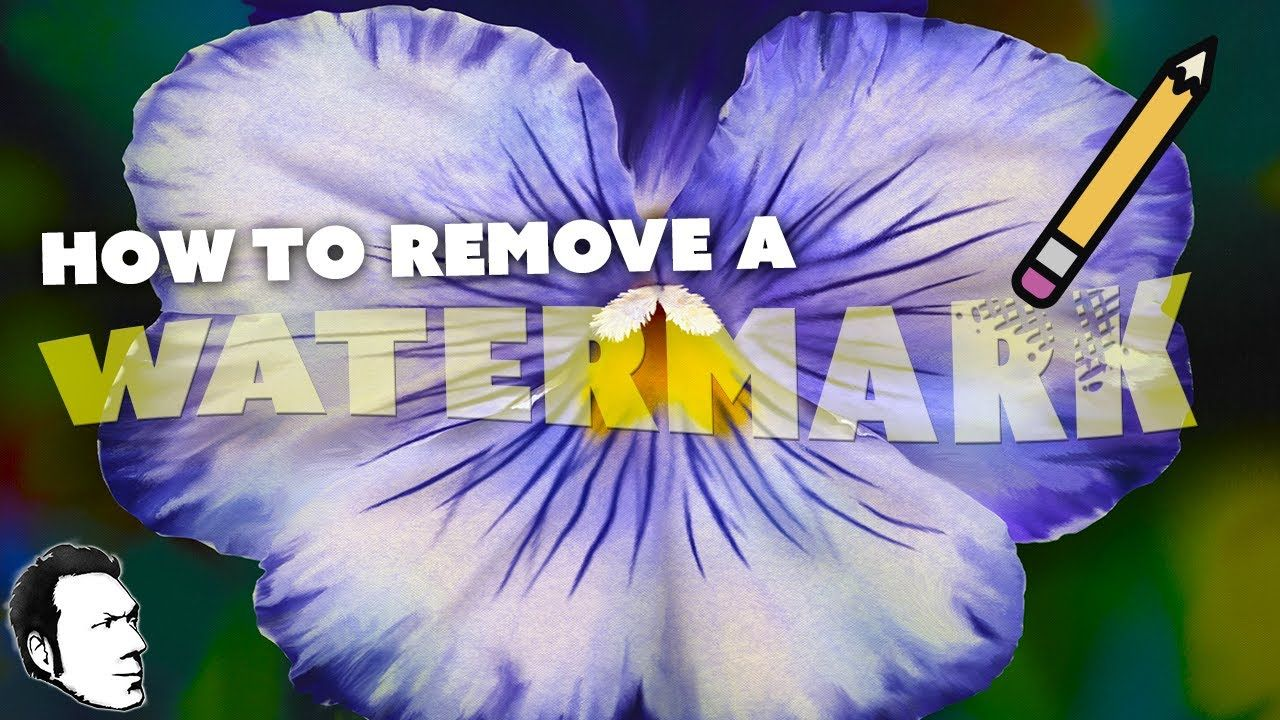 How to remove a watermark with then he shows