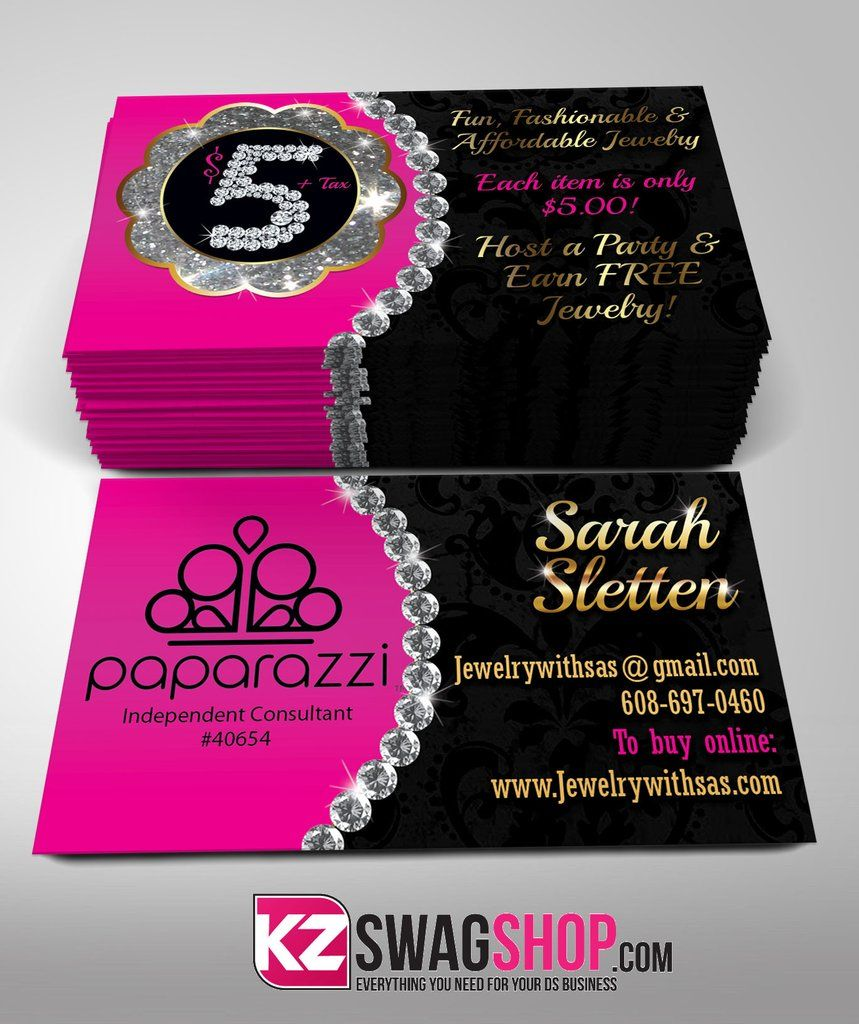 Paparazzi Jewelry Business Cards Style 8 | paparazzi accessories ...