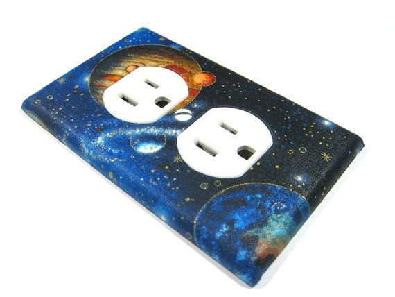 Kids Bedroom Outlet outer space bedrooms for kids | outer space outlet cover