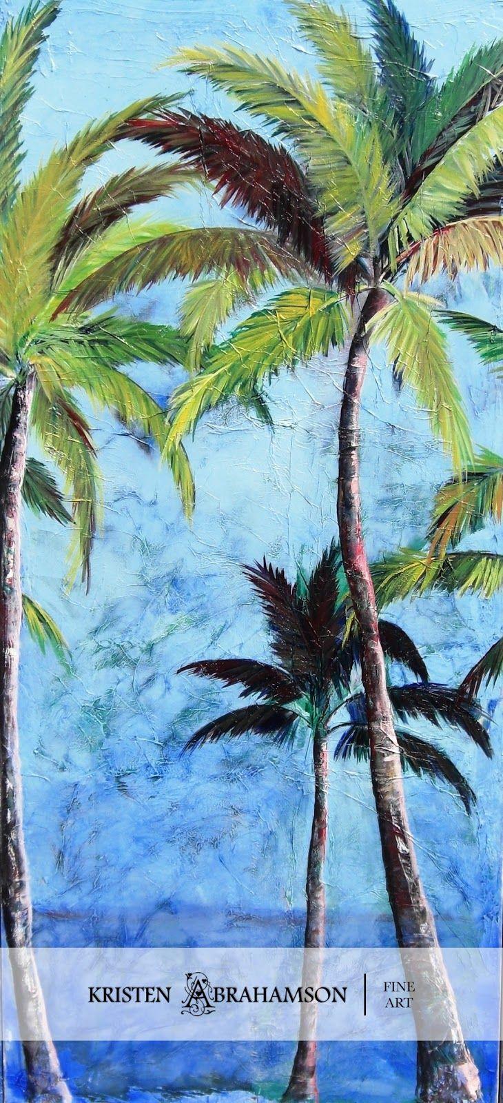 Palm Tree Paintings Palm Trees Painting Palm Tree Art Tropical Painting