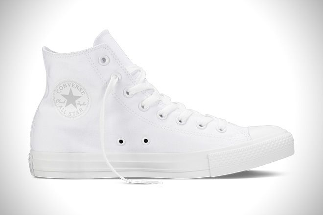 From Converse Unisex Adults' Chuck Taylor All Star Seasonal Hi-top  Sneakers, Bianco (weiß), Uk
