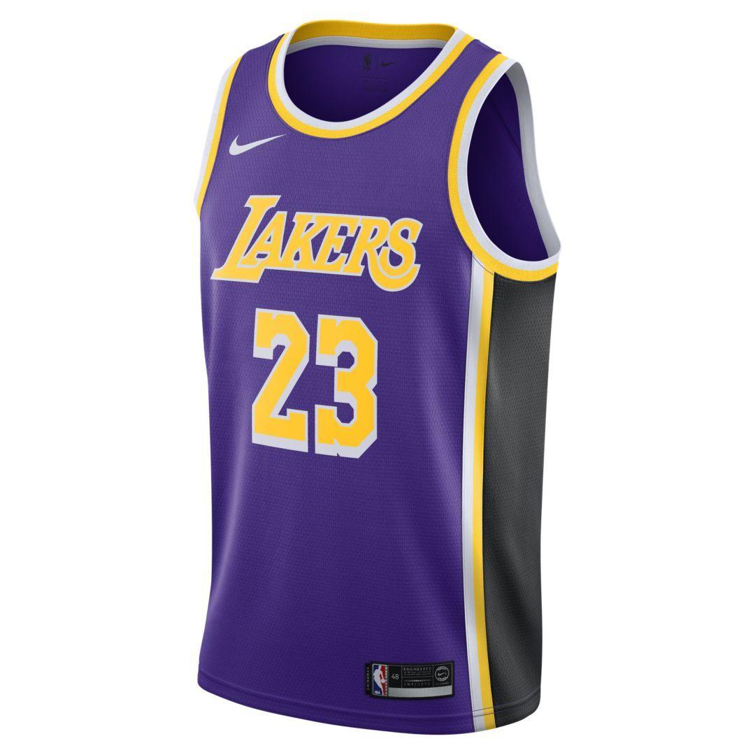 3e265e69913 LeBron James Statement Edition Swingman (Los Angeles Lakers) Men s Nike NBA  Connected Jersey Size L (Field Purple)