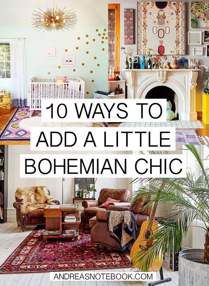 Decorative Objects Living Room: 10 Ways To Add Bohemian Chic To Your Home