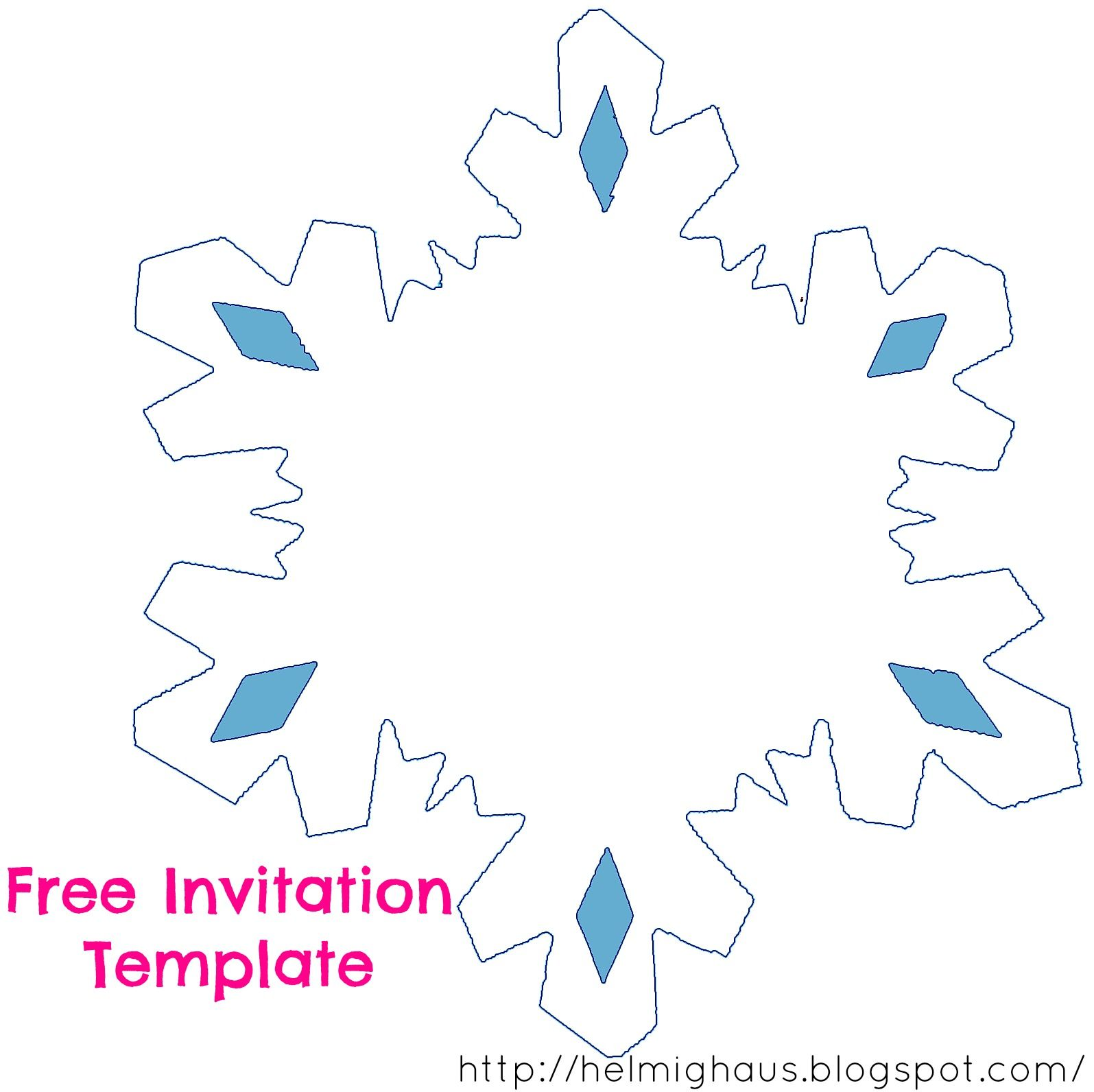 snowflake invitations templates - Ideal.vistalist.co