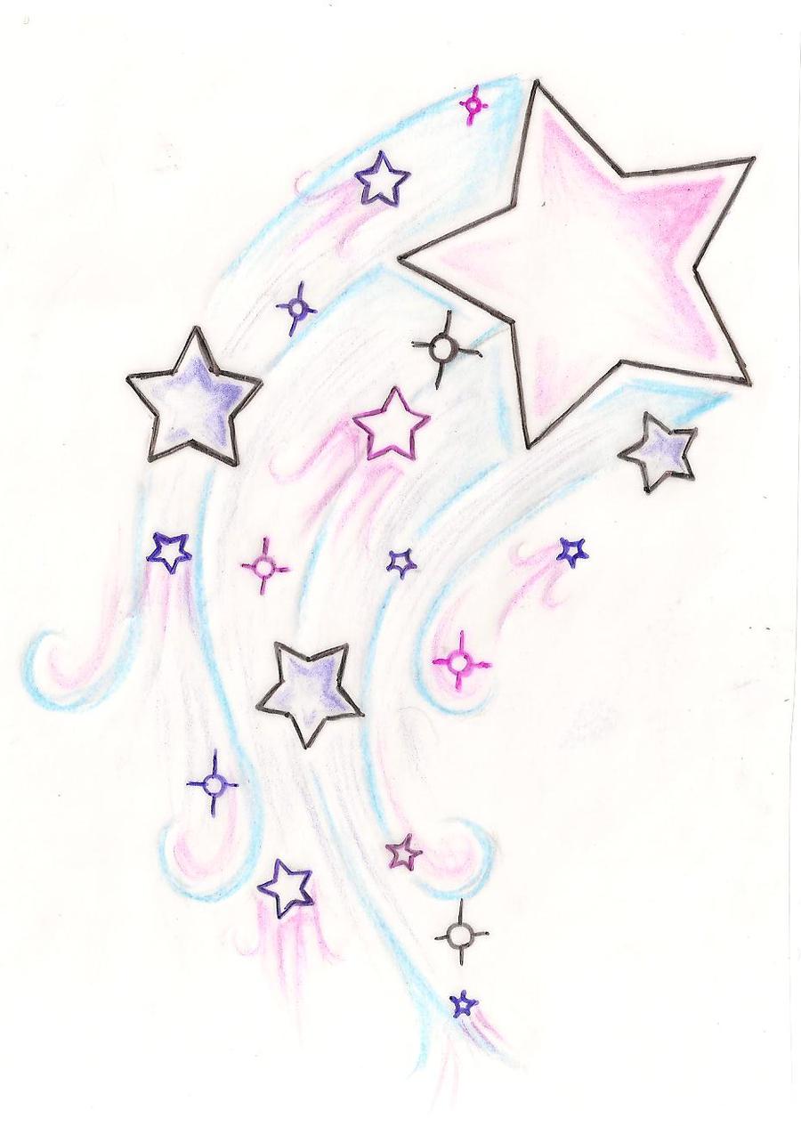 100 Cool Drawings Of Shooting Stars