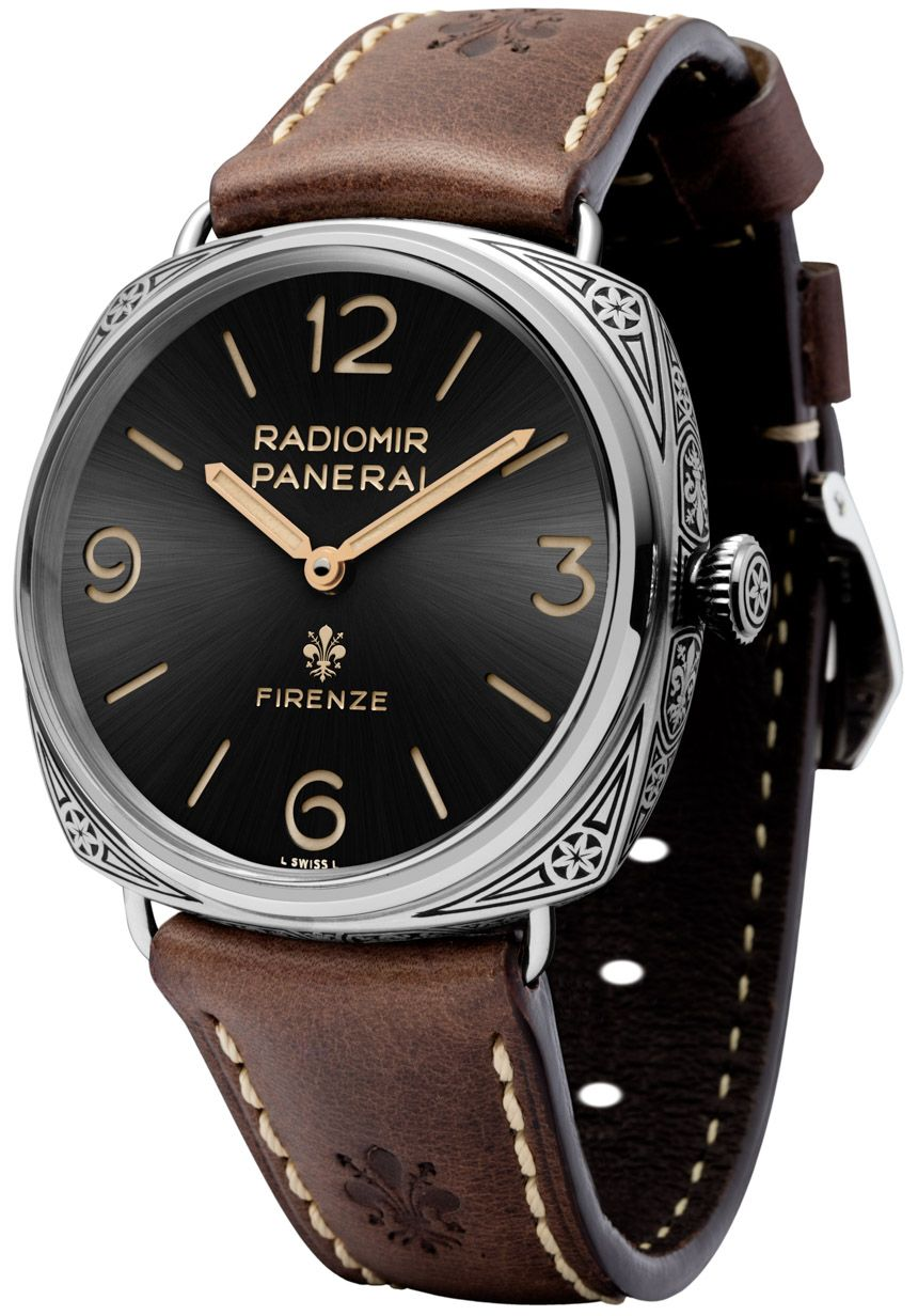 443db9f2359 Panerai Radiomir Firenze 3 Days PAM672 Watch With Engraved Case   Movement  - on aBlogtoWatch