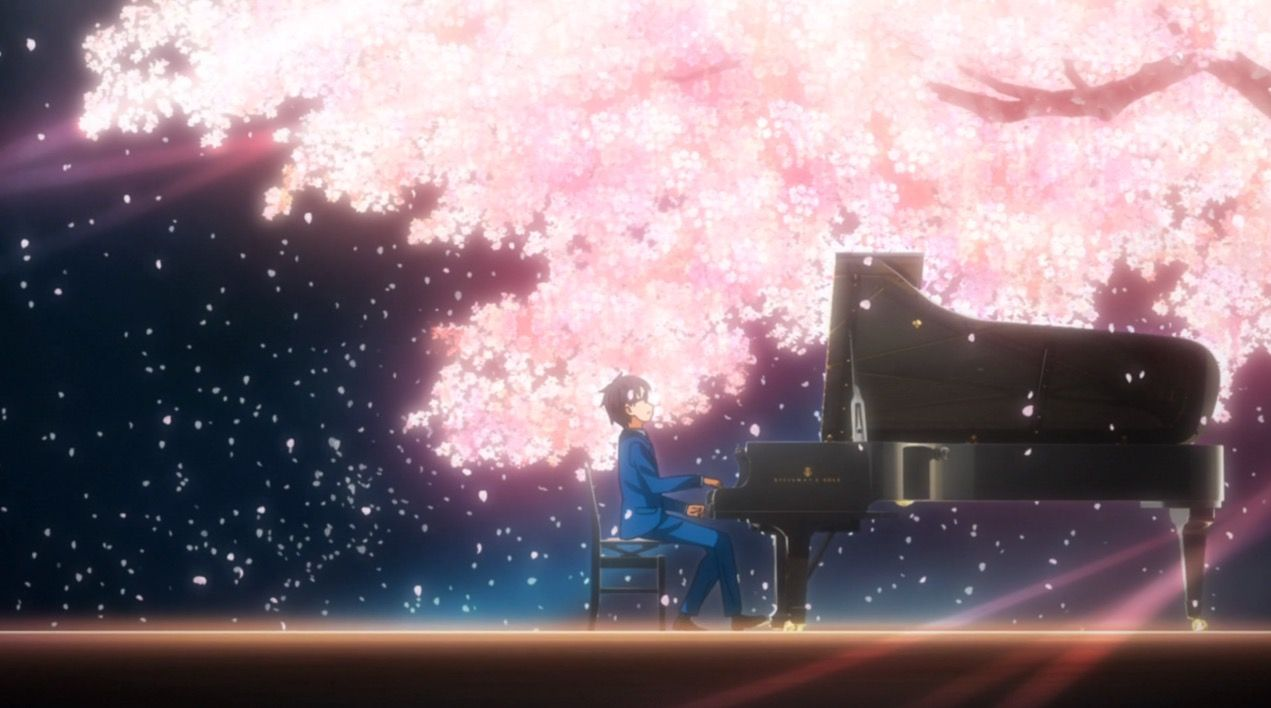 Review Your Lie In April A Monotone Boy Meets A Colorful Girl And The Gift That Nearly Destroyed Him Brings Him Back Your Lie In April Anime Music You Lied