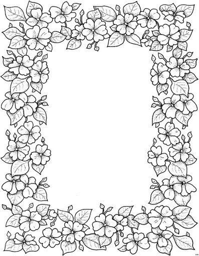 Coloriage Cadre Fleur.Cadre Fleurs Pergamano Cadre Pinterest