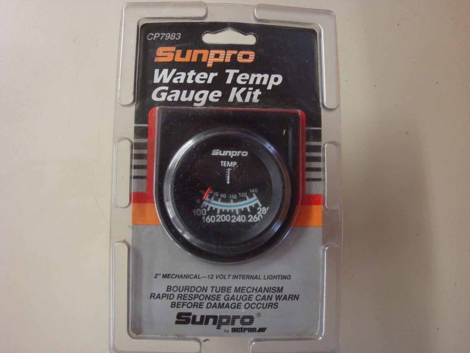 hight resolution of sunpro cp7983 water temperature gauge kit 2 u201d mechanical 100 280f sunpro temperature gauge wiring