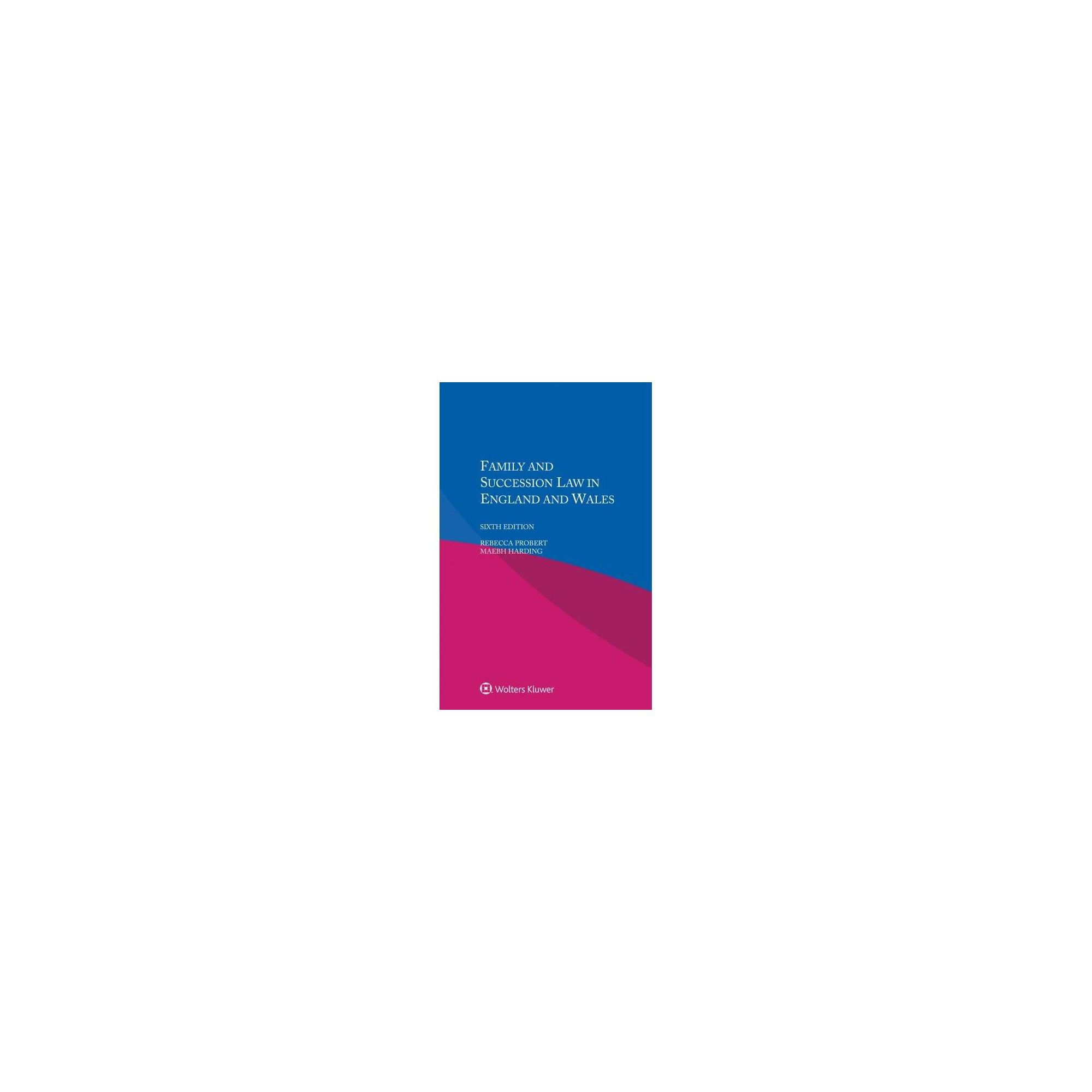 Family And Succession Law In England And Wales 6 New By Rebecca
