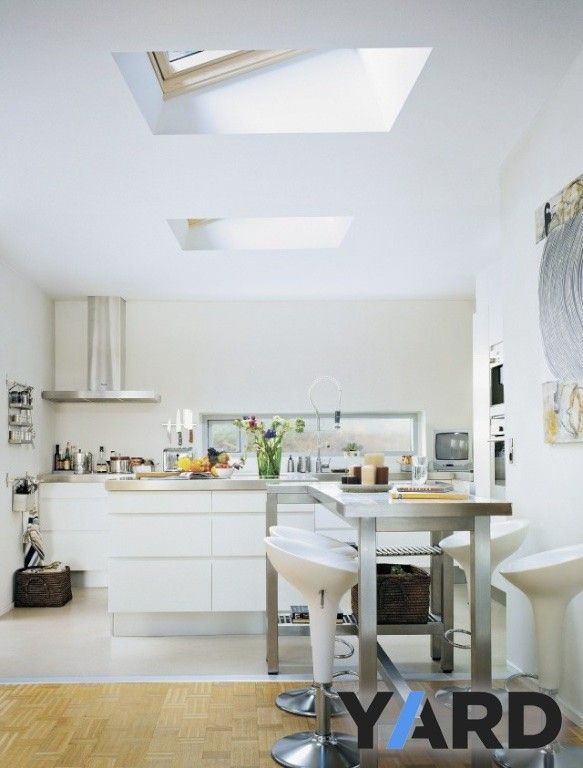 Velux Ecx Flat Roof Timber Kerb Skylight Living Room Kitchens Without Upper Cabinets Skylight Kitchen