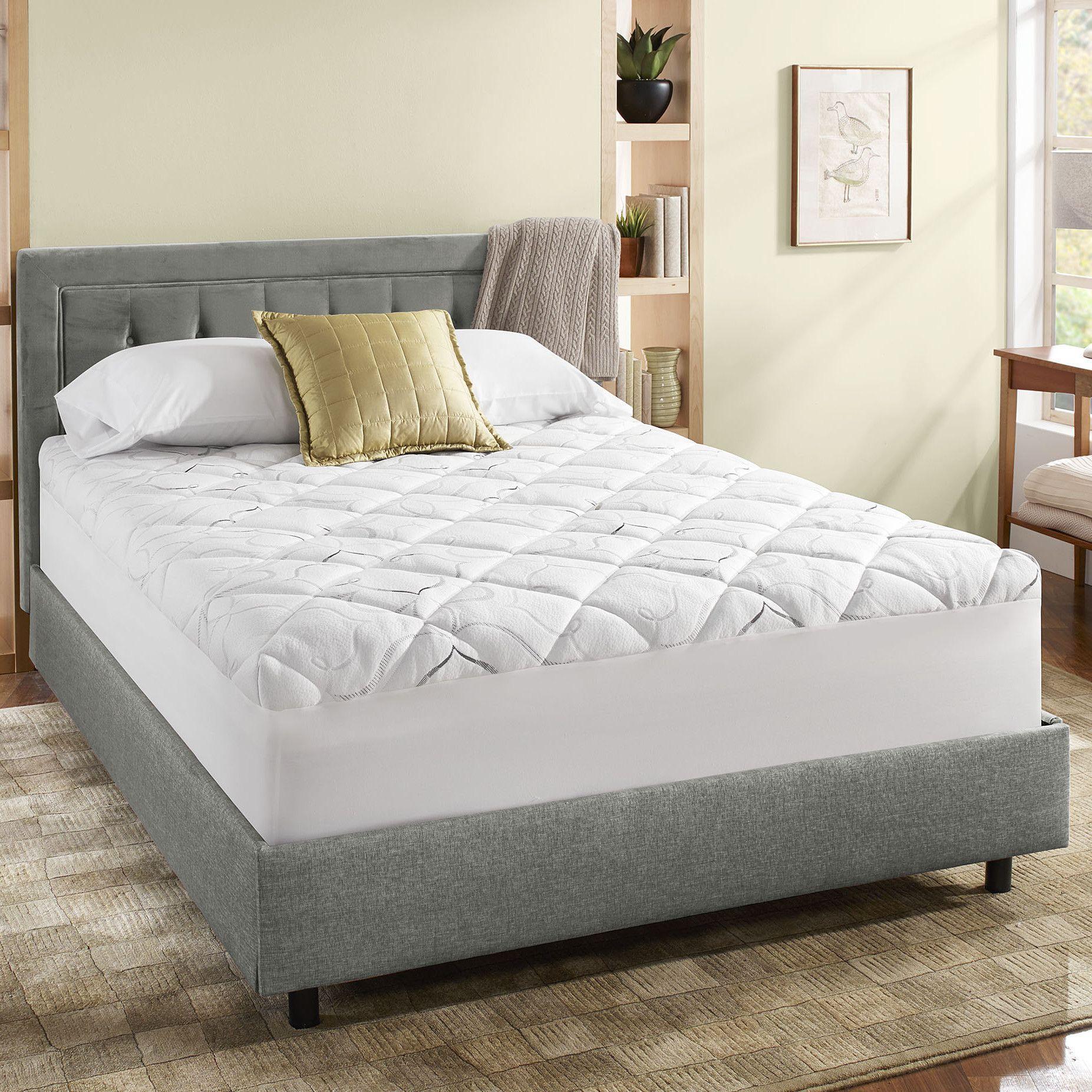 Instant Pillow Top Memory Foam and Fiber Hybrid Mattress