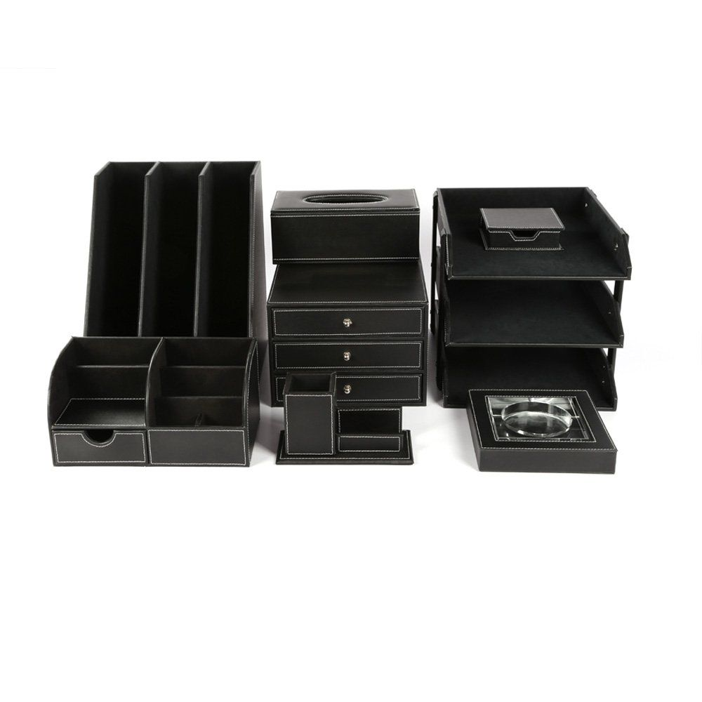 office paper holders. KINGFOM™ Office Desk Organizer Set T01-8PCS/Office Supply Eco-Friendly Synthetic Paper Holders D