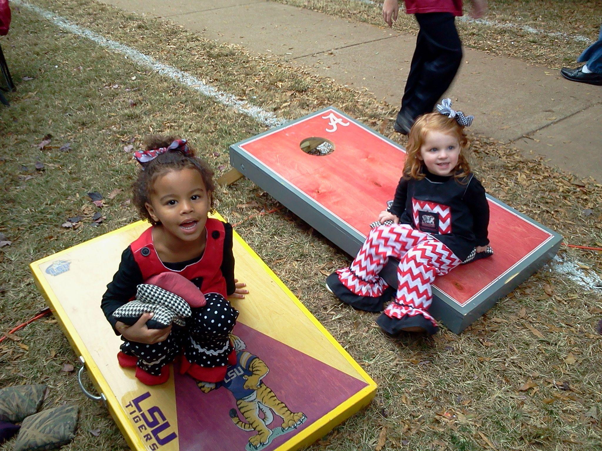 Cutest little fans | Lsu vs bama, Gameday outfit, Cute
