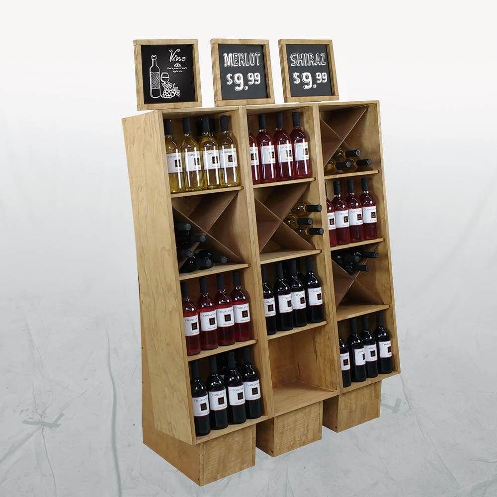 Wood Commercial Wine Racks Liquor Store Display Ideas